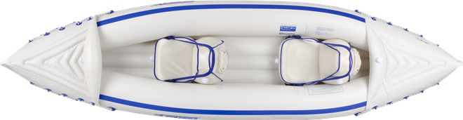 sea eagle SE330 inflatable kayak review - top view