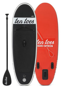 Ten Toes Emporium theNANO inflatable standup paddle board review