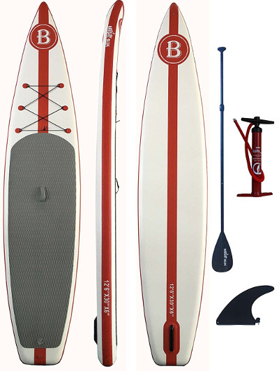 "Bright Blue 12'6"" inflatable paddle board review"