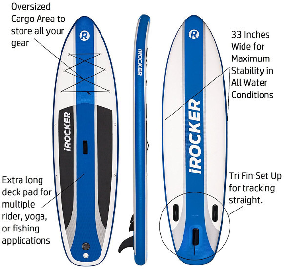"iRocker Cruiser 10'6"" inches inflatable standup paddle board review"