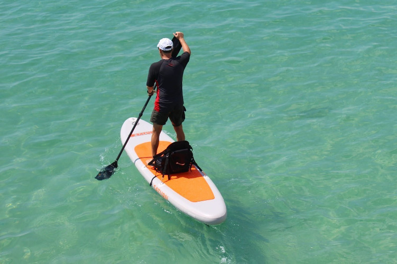 Saturn 11' orange top inflatable SUP board review