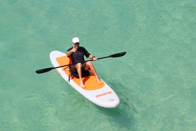 Saturn 11' orange top paddle board review