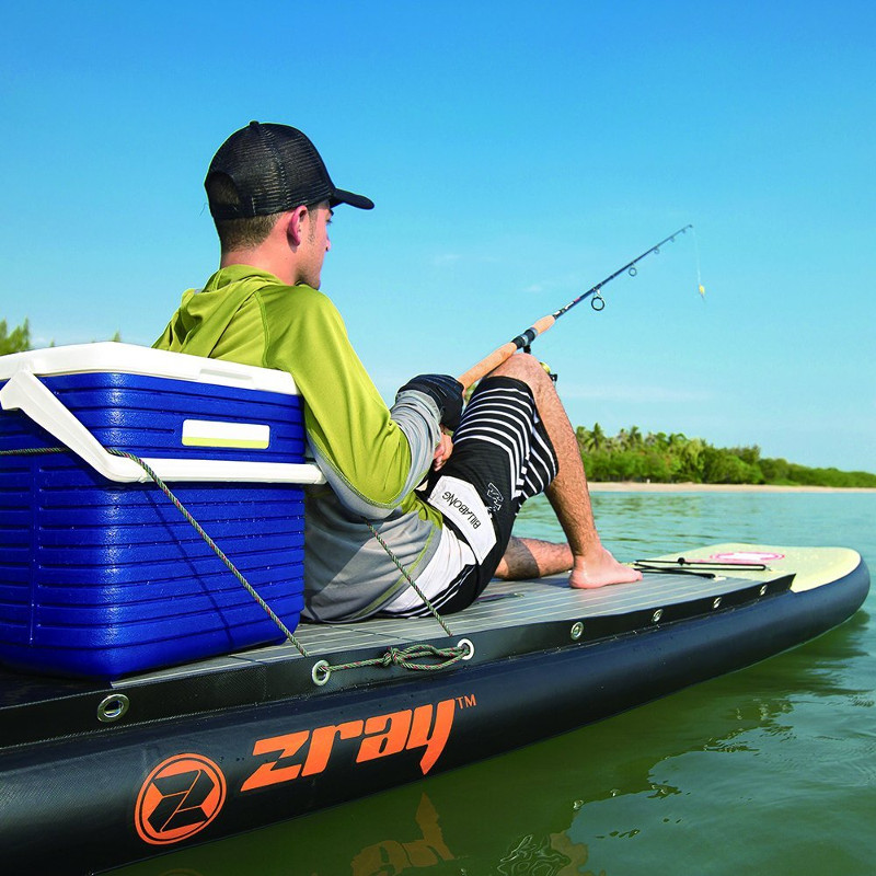 Zray fs7 11 fishing inflatable paddle board review for Inflatable fishing paddle board