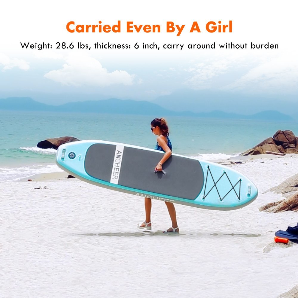 Ancheer AS10 10' inflatable stand up paddle board review