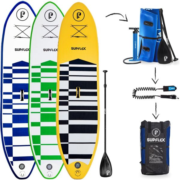 Supflex All-Around 10 ft inflatable stand up paddle board Review 53cd9f3d0ef5