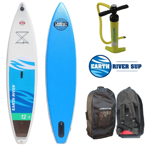 """Earth River 12'6"""" inflatable stand up paddle board"""