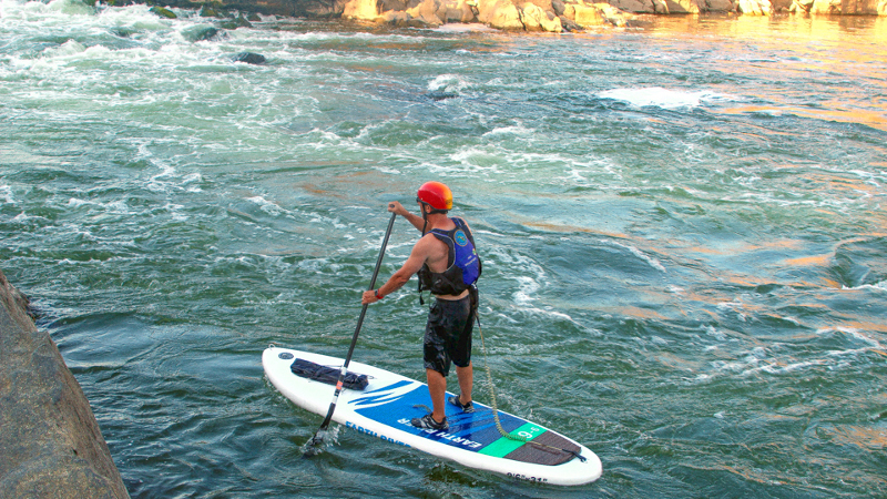 Earth River Inflatable stand up paddle board