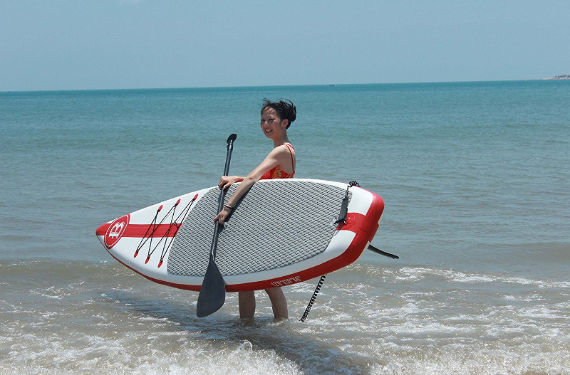 Bright Blue 12 feet 6 inches inflatable paddle board review
