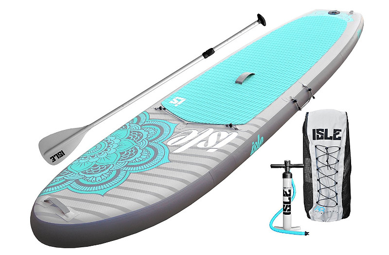 """ISLE Airtech Inflatable 10'4"""" Yoga Stand Up Paddle Board Review"""