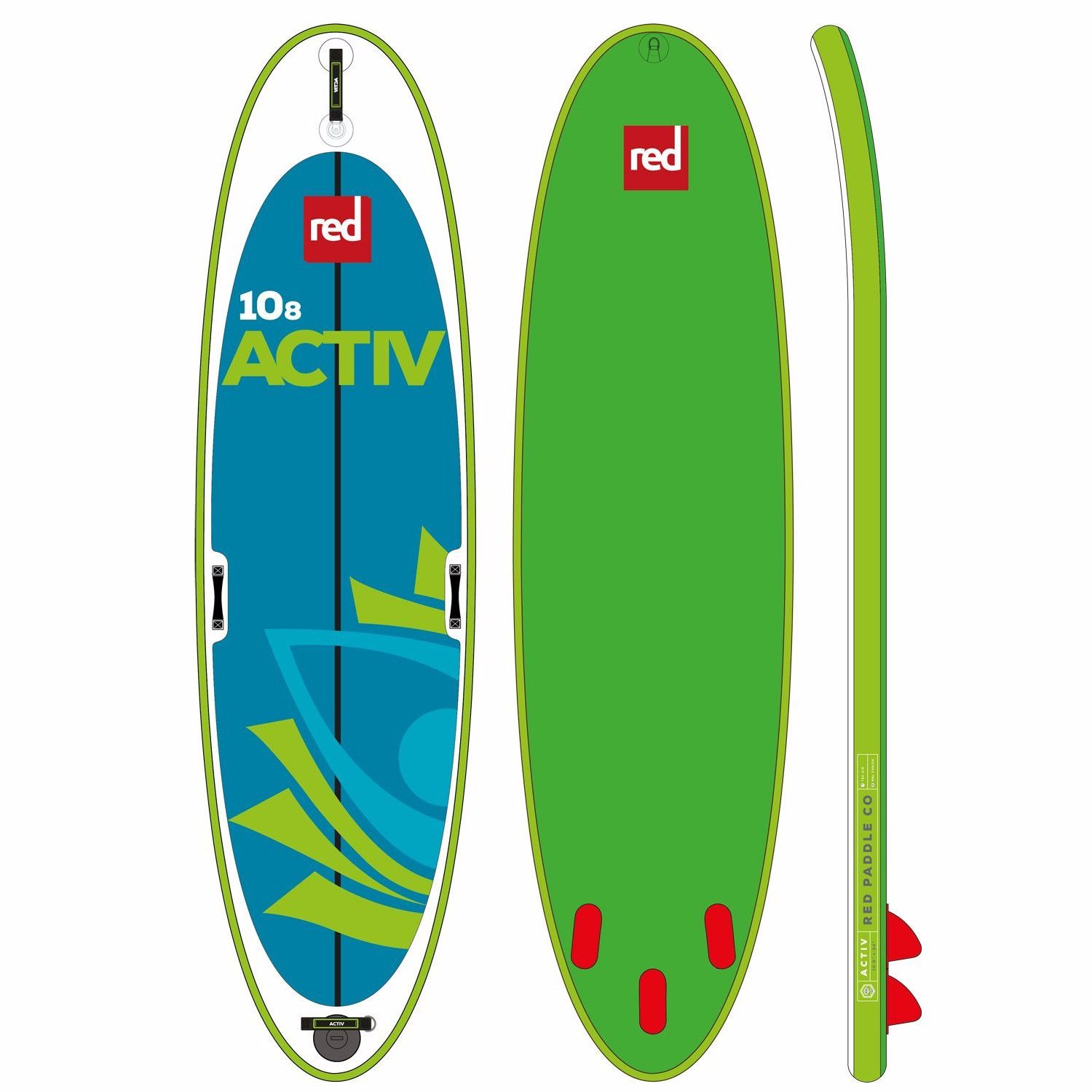 "2017 Red Paddle Co. Activ 10'8"" x 34"" Inflatable Paddleboard"