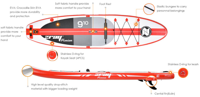 """Zray A Premium 9'10"""" Paddle Board Inflatable review"""