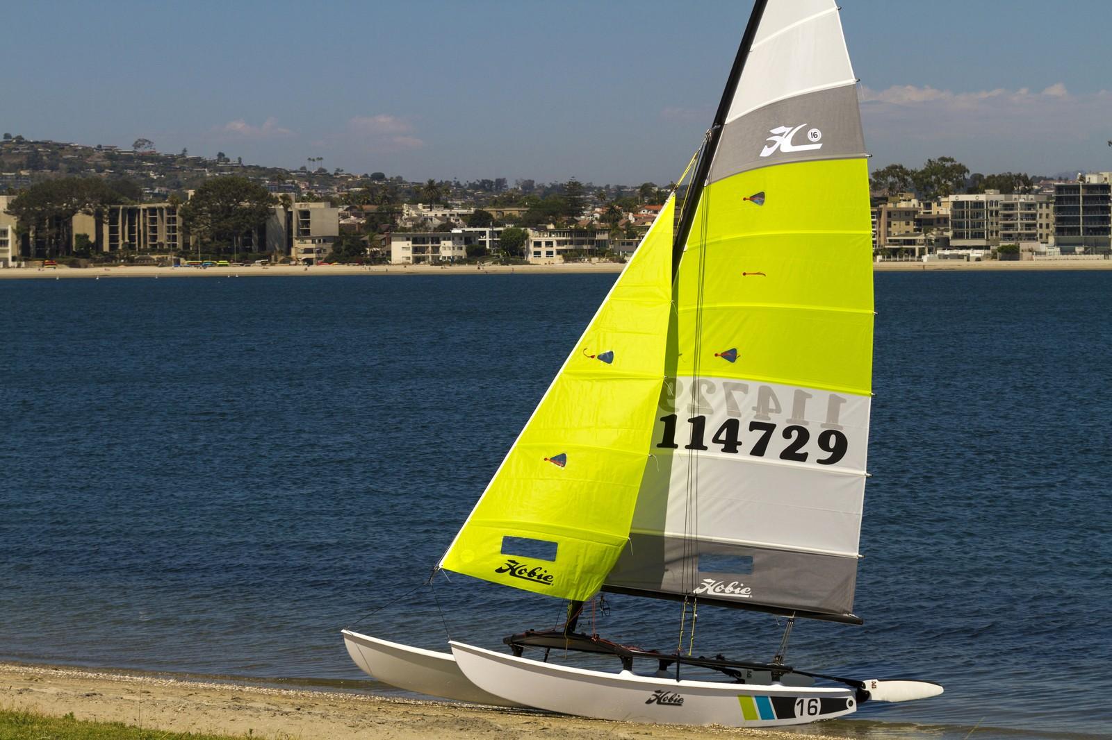 Hobie Cat 16 sailing in the sea